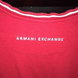 Armani Exchange Shirts - Armani Exchange red v neck size small